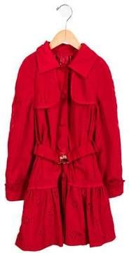 MonnaLisa Girls' Eyelet-Accented Casual Jacket