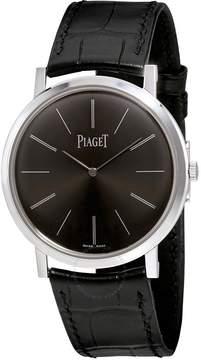 Piaget Altiplano Mechanical Black Dial 18Kt White Gold Men's Watch