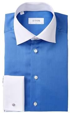 Eton Two-Tone Slim Fit Dress Shirt
