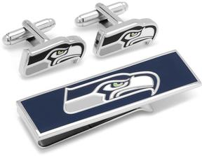 Ice Seattle Seahawks Cufflinks and Money Clip Gift Set