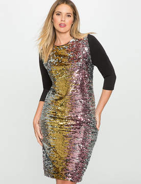 ELOQUII Studio Variegated Sequin Dress