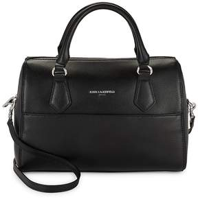 Karl Lagerfeld Women's Hermine Split Leather Satchel