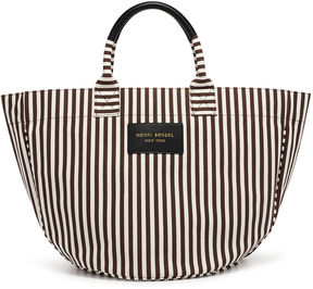 Henri Bendel Signature Stripe Round Canvas Tote