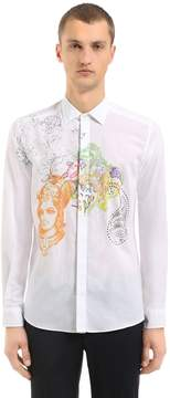 Etro Printed & Studded Cotton Muslin Shirt