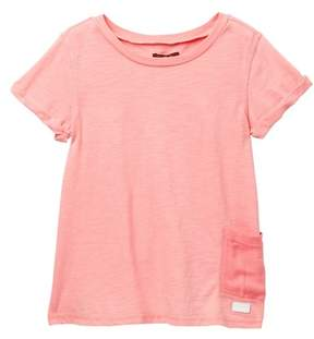 7 For All Mankind Garment Dyed Tee (Big Girls)