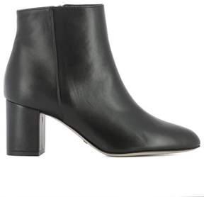Sebastian Women's Black Leather Ankle Boots.