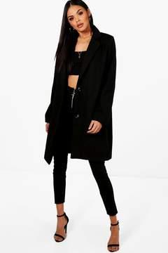 boohoo Collared Wool Look Coat
