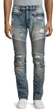 Reason Distressed Straight-Leg Jeans