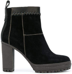 See by Chloe whipstitched ankle boots