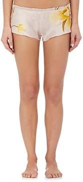 Carine Gilson Women's Flottant Floral Stretch-Silk Shorts