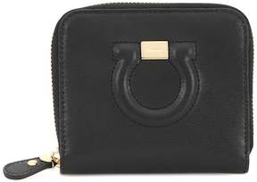 Salvatore Ferragamo Gancini French leather wallet