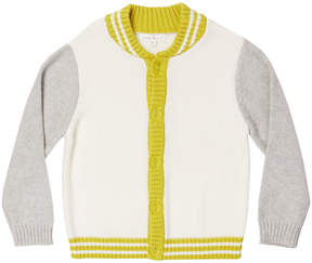Marie Chantal Boys Varsity Cotton Cardigan