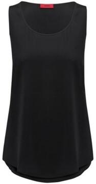 HUGO Boss Silk Blend Top Cendis 6 Black