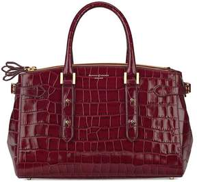 Aspinal of London Brook Street Bag In Deep Shine Bordeaux Croc