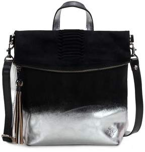 Patricia Nash Metallic Dip-Dye Collection Luzille Tasseled Studded Convertible Backpack