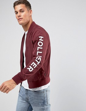 Hollister Basic Bomber in Burgundy