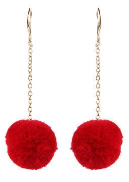 Amrita Singh Red & Goldtone Paradise Pom-Pom Drop Earrings