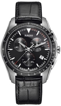 Rado Men's Hyperchrome Chronograph Leather Strap Watch, 45Mm
