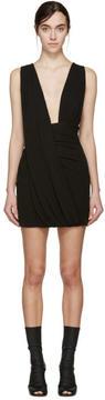 Anthony Vaccarello Black Draped Jersey Dress