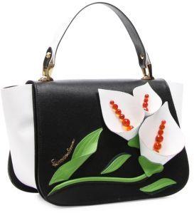 Braccialini Marcella Saffiano Leather Flap Satchel