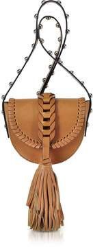 RED Valentino Natural Leather Crossbody Bag w/Oversized Tassel