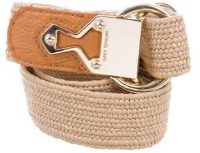 MICHAEL Michael Kors Raffia Logo Belt