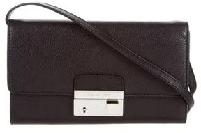 Michael Kors Leather Gia Clutch - BLACK - STYLE