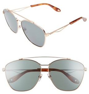 Givenchy Women's 65Mm Round Aviator Sunglasses - Gold Copper