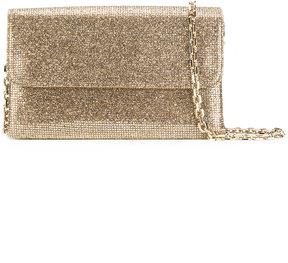Casadei glittered foldover clutch bag