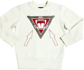 Diesel Mouth Printed Cotton Sweatshirt