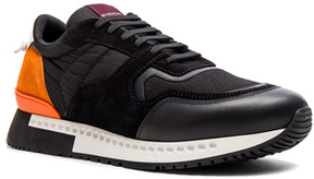 Givenchy Active Runner Sneakers in Black,Orange.
