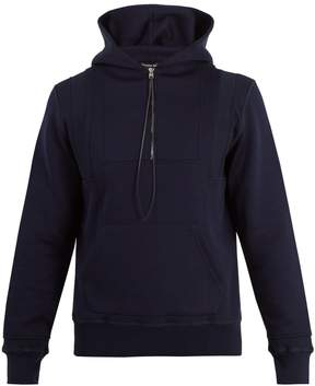 Alexander McQueen Seamed hooded zip-up sweatshirt