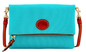 Dooney & Bourke Nylon Foldover Zip Crossbody Shoulder Bag - AQUA - STYLE