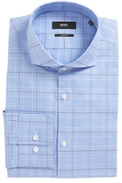 BOSS Men's Mark Sharp Fit Plaid Dress Shirt