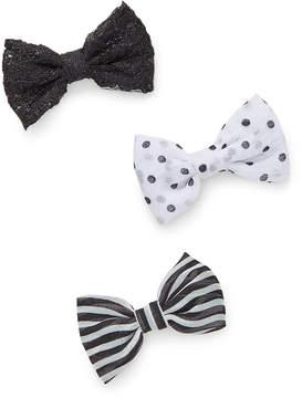 Carole Black & White Bow Hair Clip Set