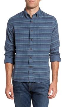 Grayers Men's Harcourt Modern Fit Double Cloth Striped Sport Shirt
