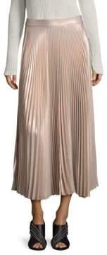 A.L.C. Bobby Metallic Pleated Maxi Skirt