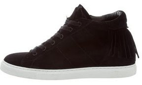 IRO Suede Fringe-Trimmed Sneakers