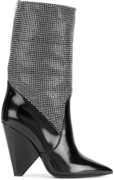 Saint Laurent Niki chainmail boots