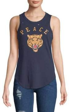 Chaser Peace Muscle Cotton Tank Top