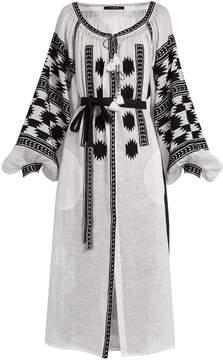 DAY Birger et Mikkelsen VITA KIN Stardust embroidered linen midi dress