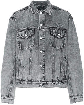 Ksubi Oh G grey acid wash denim jacket