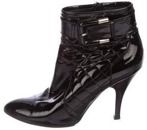 Burberry Patent Quilted Booties