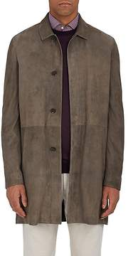 Loro Piana Men's Waterey Suede Coat