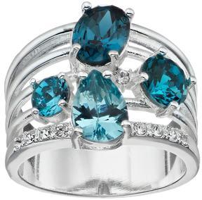 Brilliance+ Brilliance Multi Row Ring with Swarovski Crystals