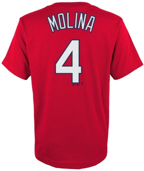 Majestic Boys 4-18 St. Louis Cardinals Yadier Molina Player Name and Number Tee