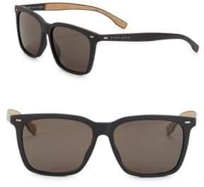 HUGO 56MM Round Sunglasses