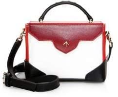 Atelier Manu Micro-Bold Colorblock Leather& Suede Top Handle Bag