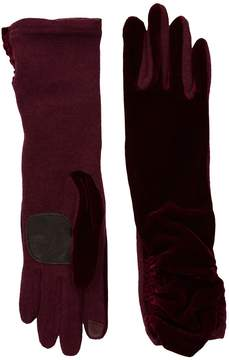 Echo Long Classic Velvet Gloves Dress Gloves