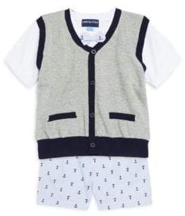 Andy & Evan Baby Boy's Two-Piece Sweater Vest and Short Set